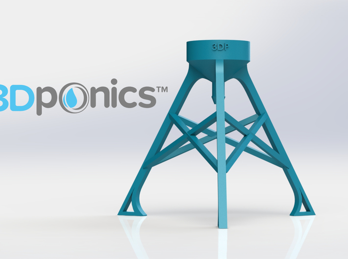 Bottle Stand - 3Dponics 3d printed Bottle Stand - 3Dponics Non-Circulating Hydroponics