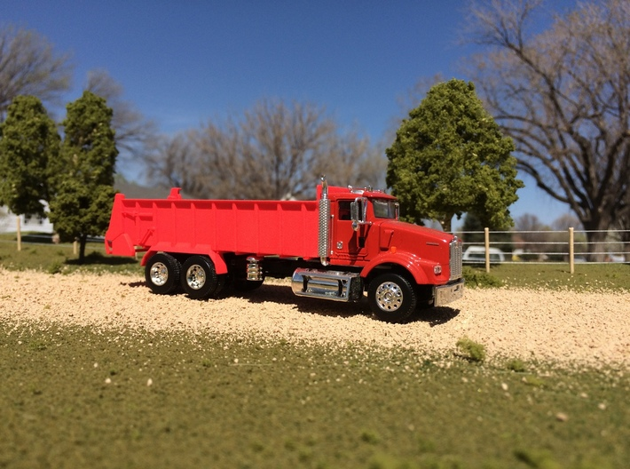 1/64 Scale Horizontal Beater Manure Spreader long  3d printed