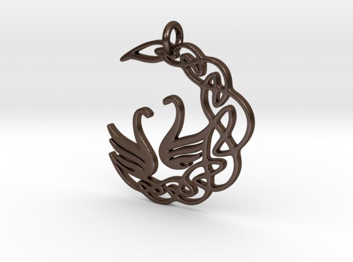 SwanPendant 3d printed