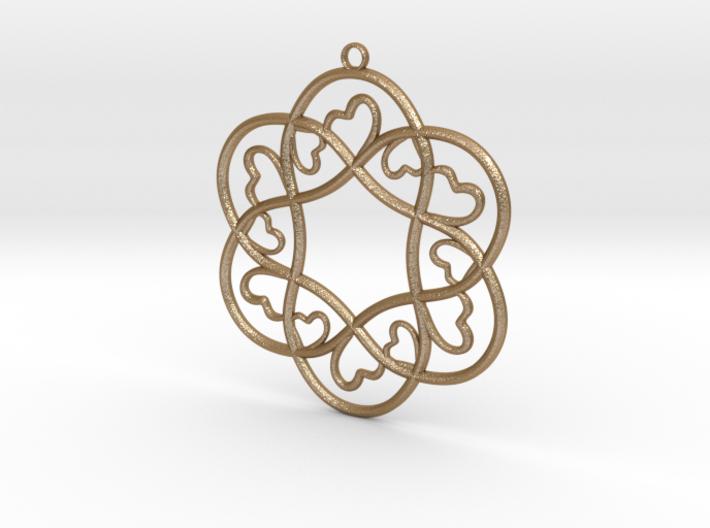 Little Hearts Pendant 3d printed
