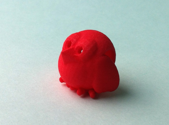 Flying Crumbz Pendant 3d printed Coral Red Strong & Flexible