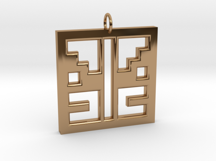 Square Angel Pendant 3d printed