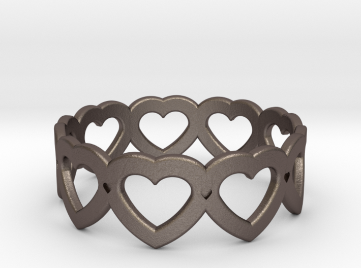 Heart Ring - Size 7 3d printed