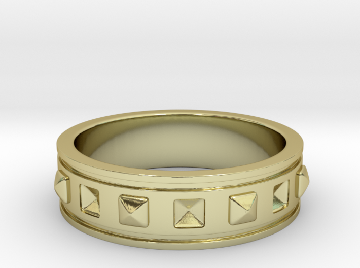 Ring with Studs - Size 5 3d printed