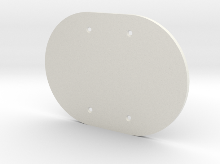 plodes® 2 Gang Blank Outlet Wall Plate 3d printed