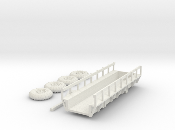 Cane Wagon, Louisiana. Rides on Tractor Tires HO S 3d printed