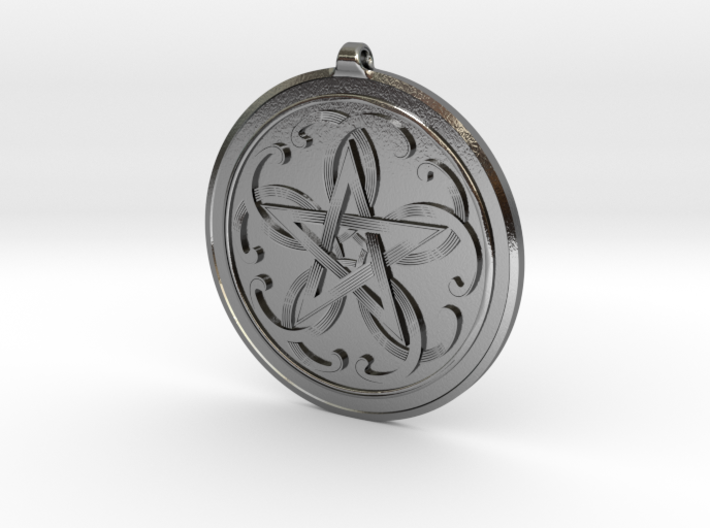 Celtic Pentagram Knot Pendant~44mm (1 3/4 inch) 3d printed