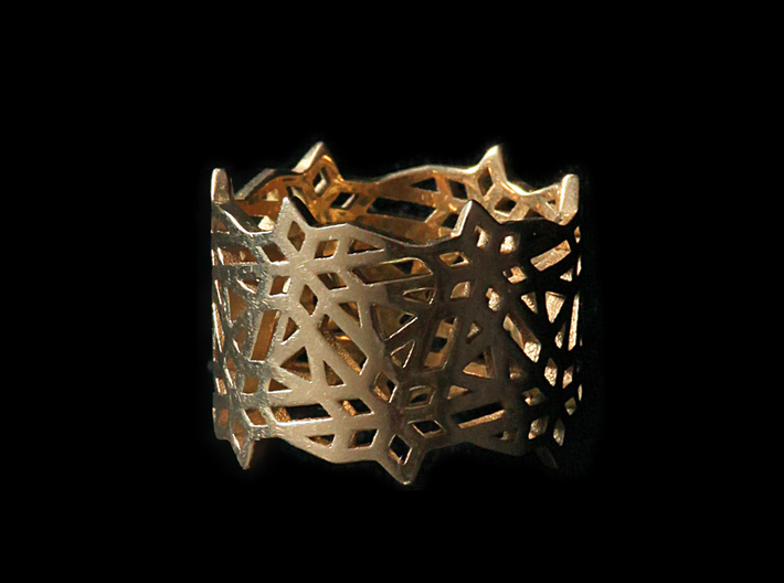 Hexflower Tessellation Ring 3d printed