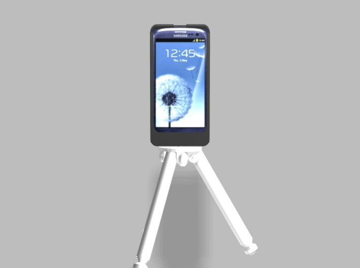 Samsung S3 5000mah Charger Tripod Camera Mount wit 3d printed