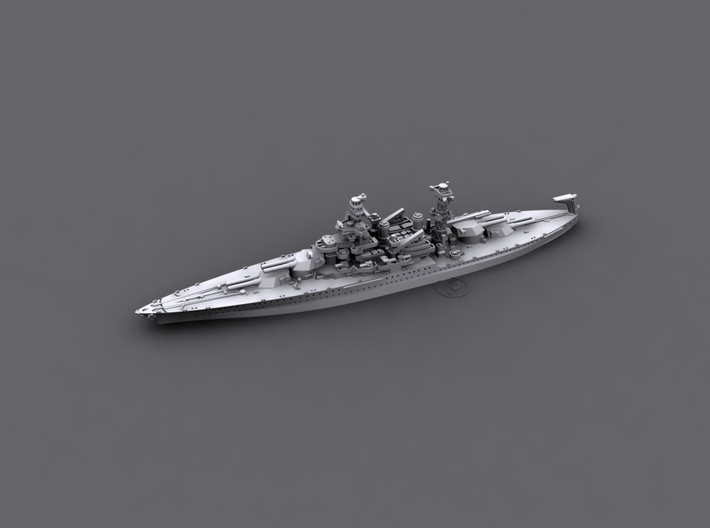 1/1800 US BB46 Maryland [1941] 3d printed Computer software render