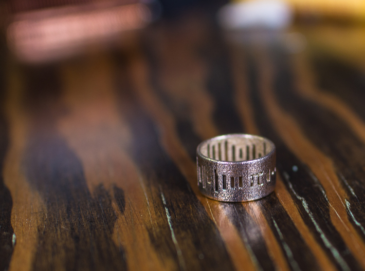 Pi Ring - Pi on your Finger Any Size! - Size 8 3d printed Quick wire wheel polish, nothing more.