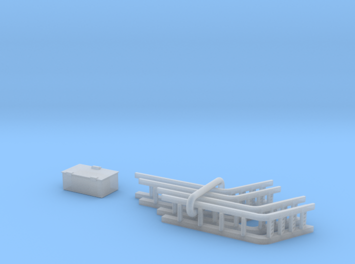 UP Water Tender Pre-Rebuilt (Turbine) Small Parts 3d printed