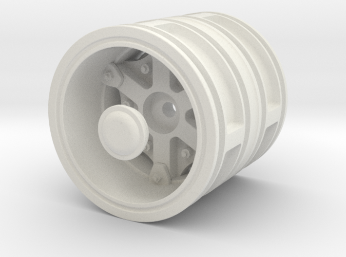 Rear-wheel-twin-tyre-set 3d printed