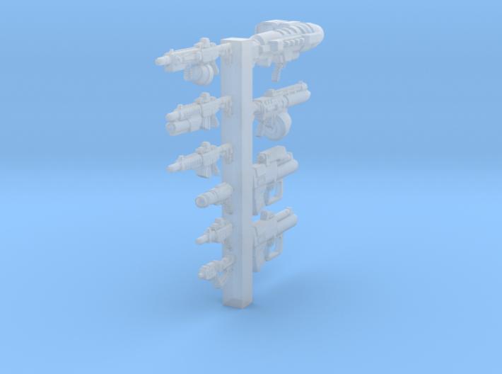 1/100 (15mm) Weapons Sprue-Variety Pack Of Doom 3d printed