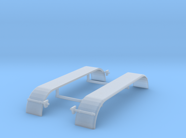 1/64th UFS Triaxle Fenders Rounded Smooth 3d printed