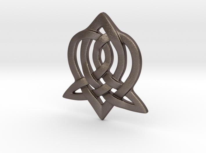Celtic Sister Pendant 3d printed