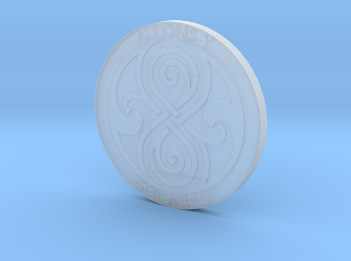 Doctor Who Tardis Coin 3d printed