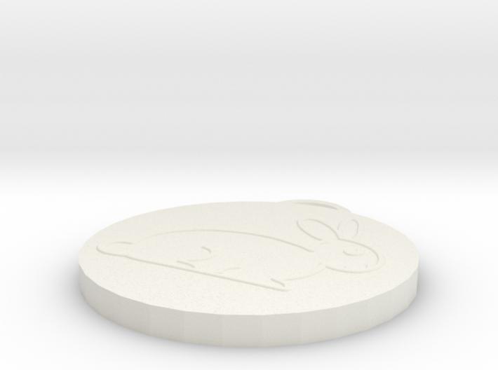 Pendant Rabbit 3d printed