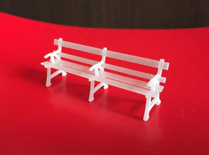 O scale station seats (x2) 3d printed