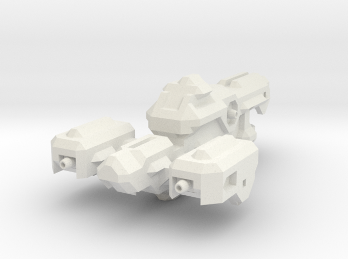 Miniature of Red Ship from Space Engineers game 3d printed