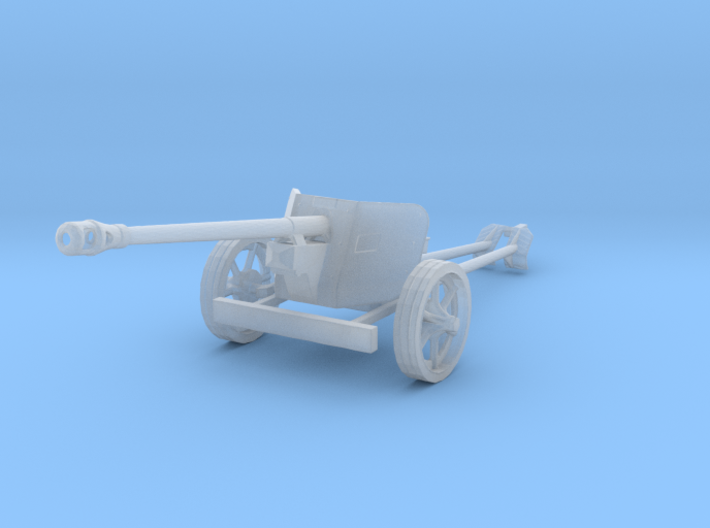 1/100 15mm scale Pak40 german anti tank gun WW2 3d printed
