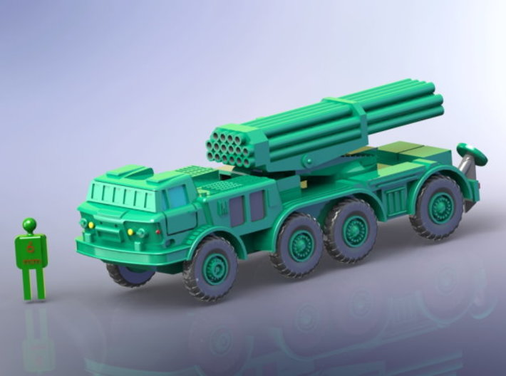 BM 27 Uragan MRLS 1/285 6mm 3d printed Add a caption...