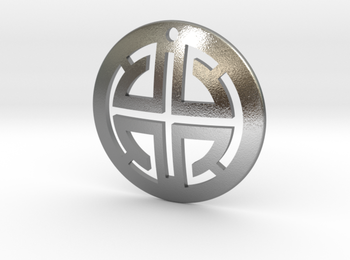 Abstract Men's Pendant 3d printed