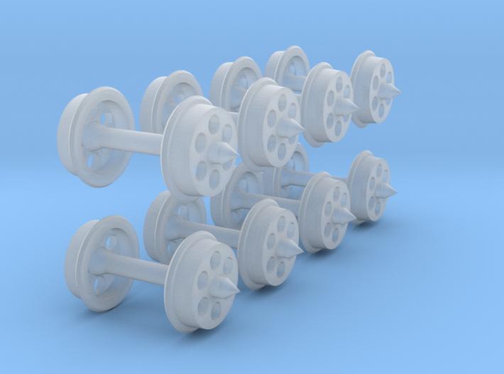 N-gauge 6-hole disc wheels 3d printed