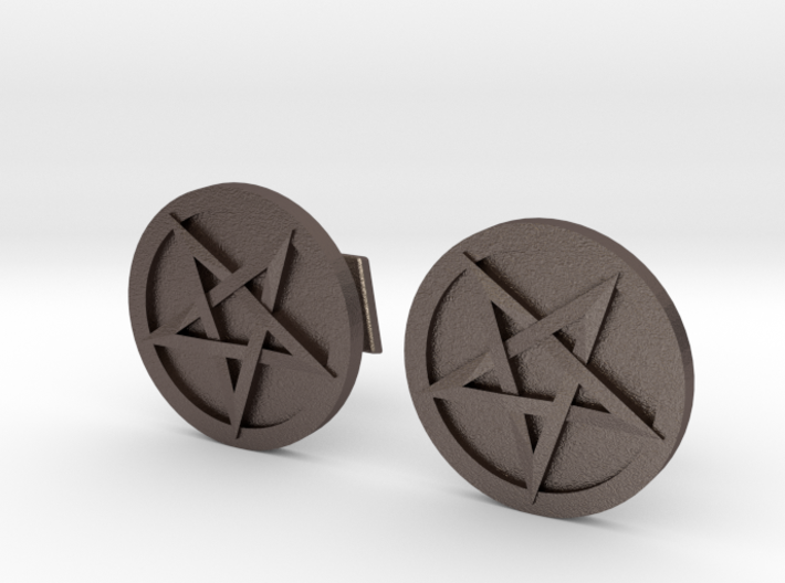 Inverted Pentacle Cufflinks 3d printed