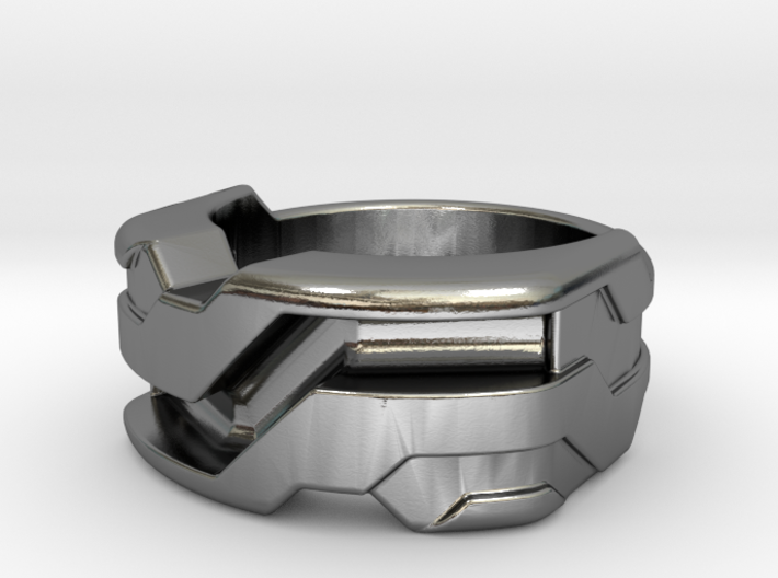 US5.5 Ring XXI: Tritium (Silver) 3d printed