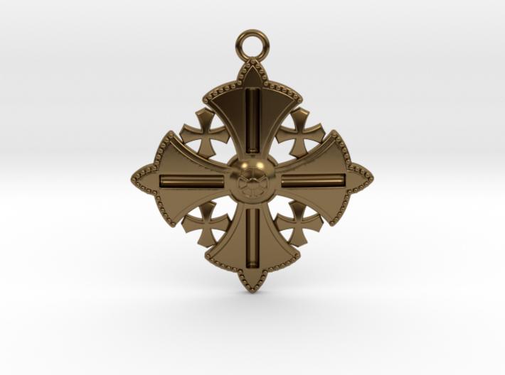 Jerusalem Cross Pendant  3d printed