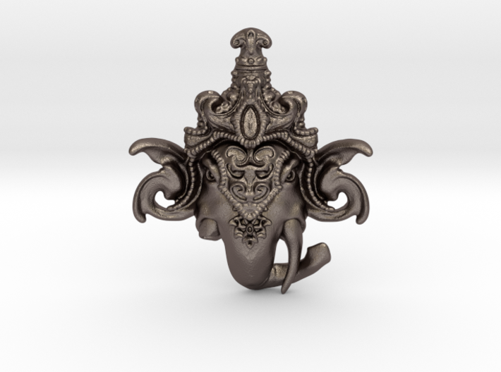 Extremely Detailed Decorative Lord Ganesha Head Pe 3d printed