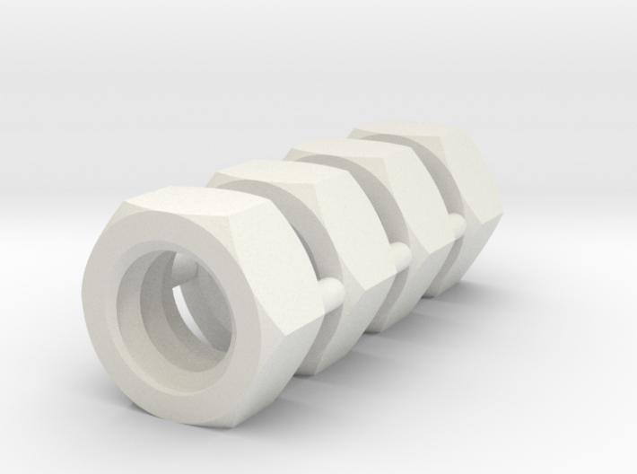 Nuts 4mm for earrings 3d printed