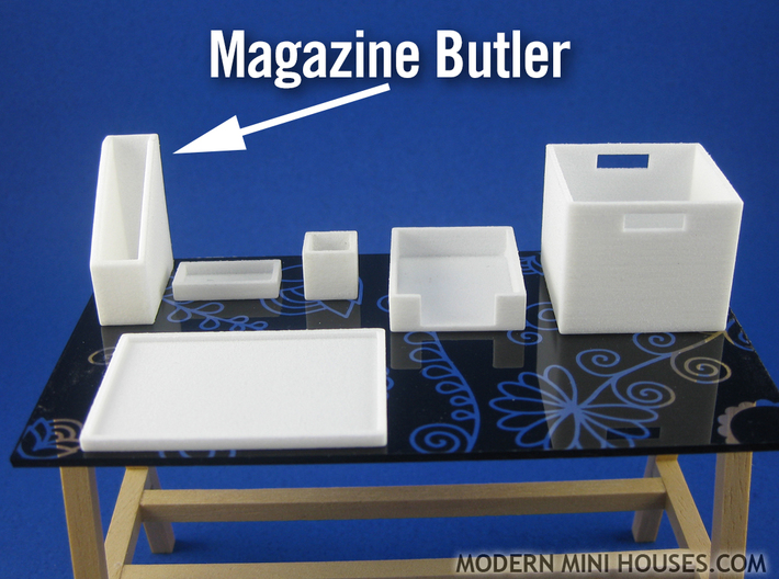 Office: Magazine Butler 1:12 scale miniature 3d printed