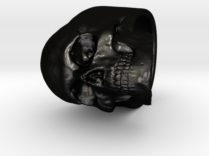Memento Mori Full Skull Ring size 8 3d printed