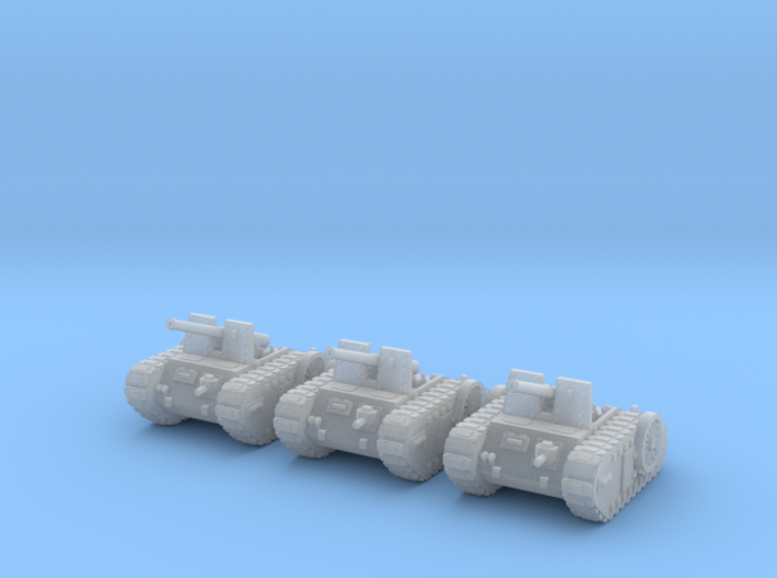 6mm Dieselpunk self-propelled Artillery Mk.C (3) 3d printed