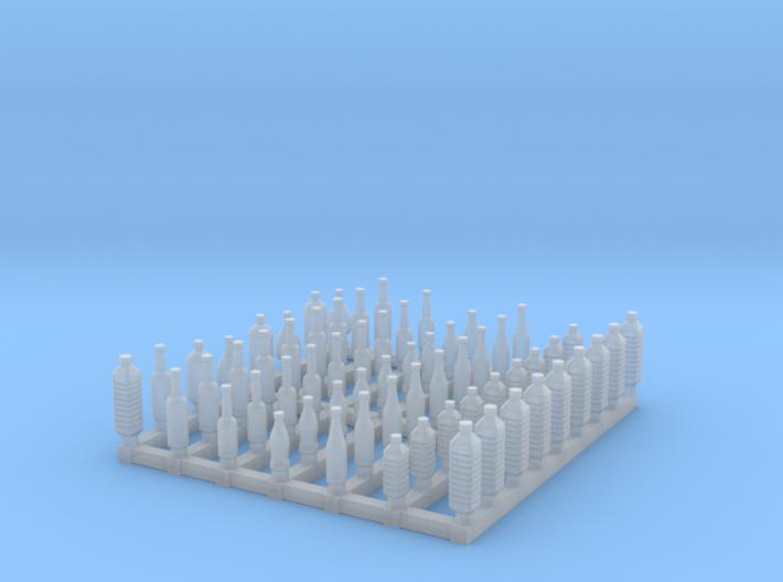 Bottles 1/72 scale SWFUD-72-005 3d printed