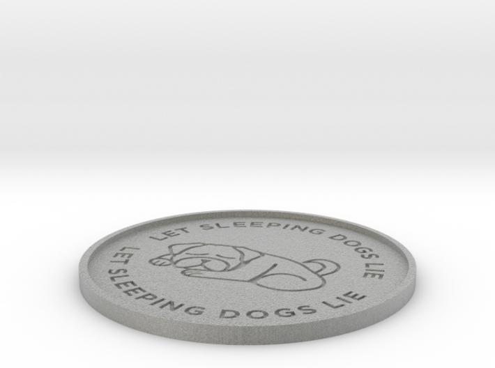 Let Sleeping Dogs Lie Beverage Coaster 3d printed