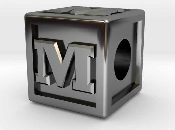"Name Pieces; Letter ""M"" 3d printed"