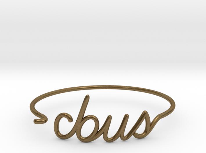 C-BUS Wire Bracelet (Columbus) 3d printed