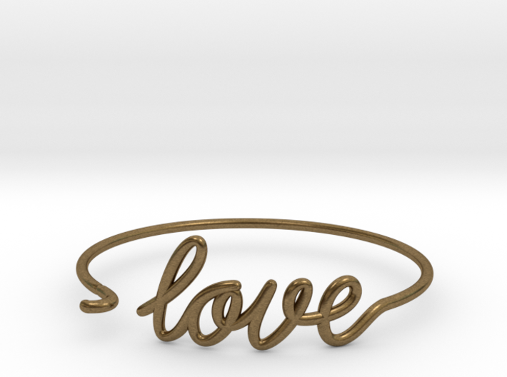 Love Wire Bracelet 3d printed