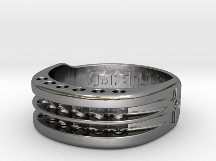 US17 Ring XI: Tritium, Six Holes 3d printed