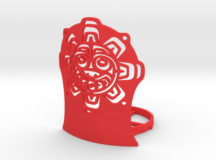 Northwest Design Sun Mask Tea Light Holder - Tall 3d printed