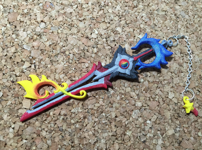 Kh keyblade divewing pendant cga6ptll7 by silverbeam kh keyblade divewing pendant 3d printed aloadofball Choice Image