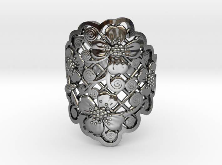 Blossom Ring 3d printed
