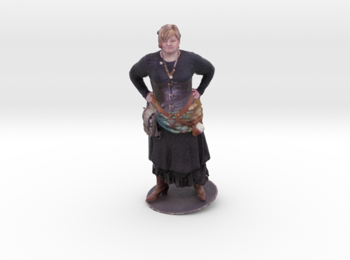 Holly Peck as a Steampunk character 3d printed