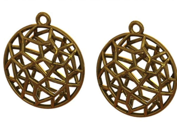 Cell Earrings - small 3d printed