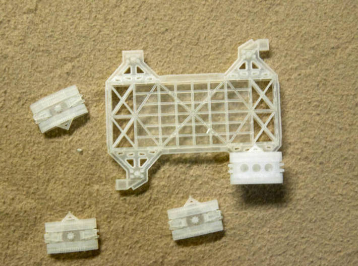 1/400 Crawler Transporter - Saturn V, 1B & shuttle 3d printed Parts of the Crawlwer model.