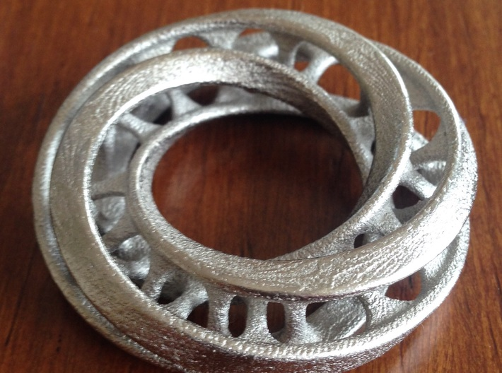 Mobius Ring Pendant v4 *Small* 3d printed