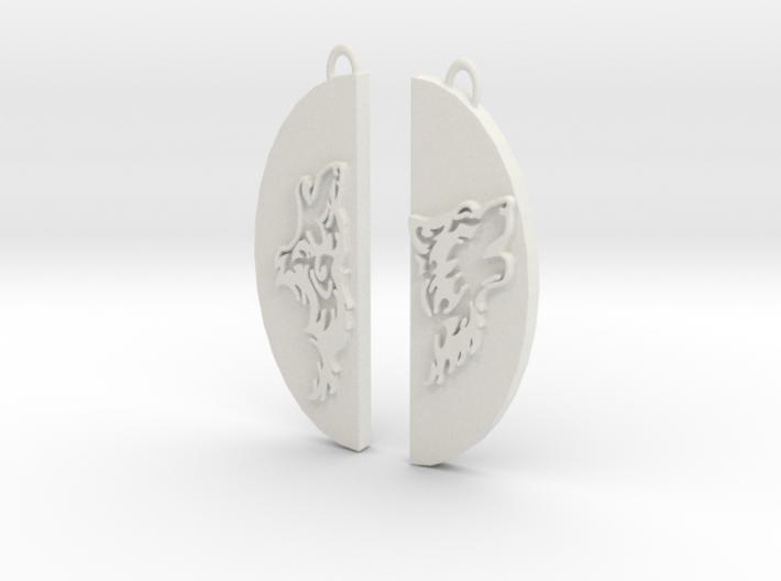 Wolf Pair 3d printed